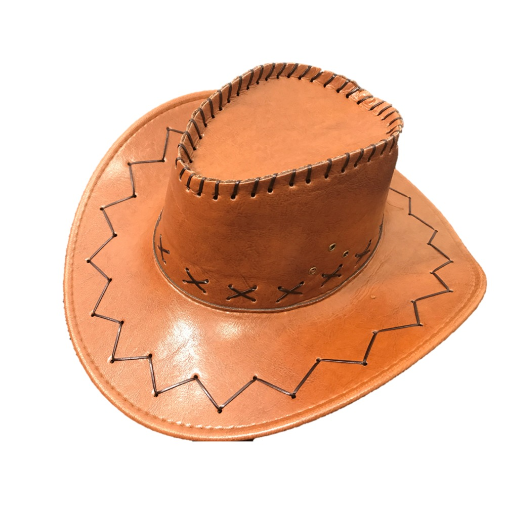 3158537c6f92e Burgundy Leather Look Cowboy Hat - Stylex Party