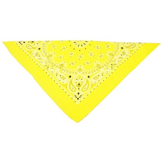Neon Yellow Paisley Bandana