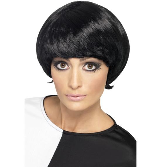 60's Psychedelic Black Wig