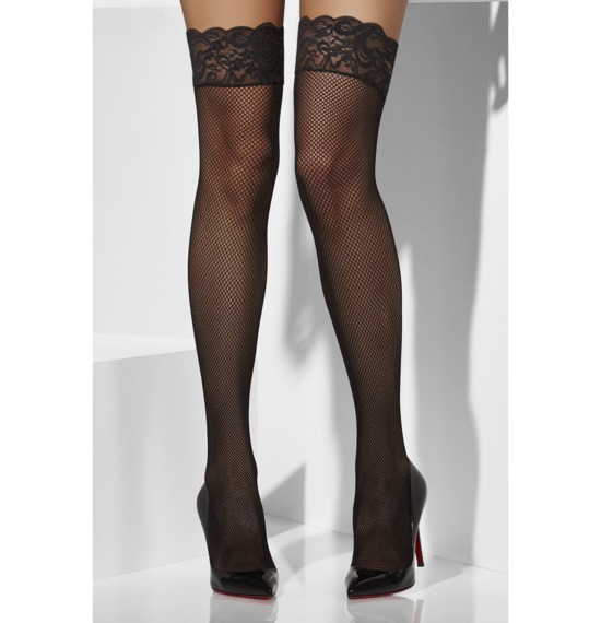 Fishnet Hold-Ups Lace Tops