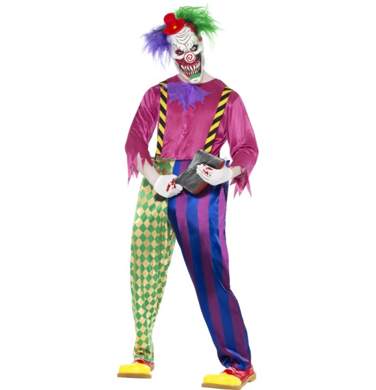 Kolorful Killer Klown Costume by Smiffys