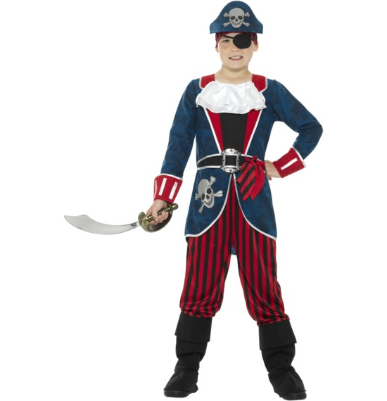 Deluxe Pirate Captain Costume by Smiffys