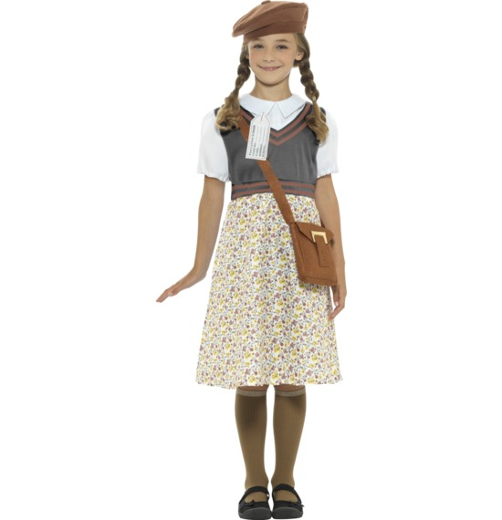 Evacuee School Girl Costume by Smiffys