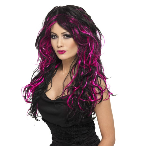 Gothic Bride Wig Purple Black