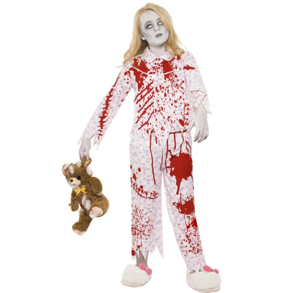Zombie Pyjama Girl Costume