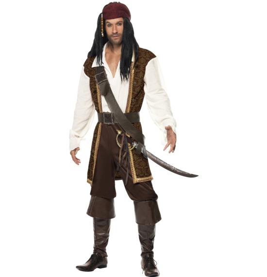 High Seas Pirate Costume, Brown