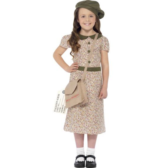 Evacuee Girl Costume by Smiffys