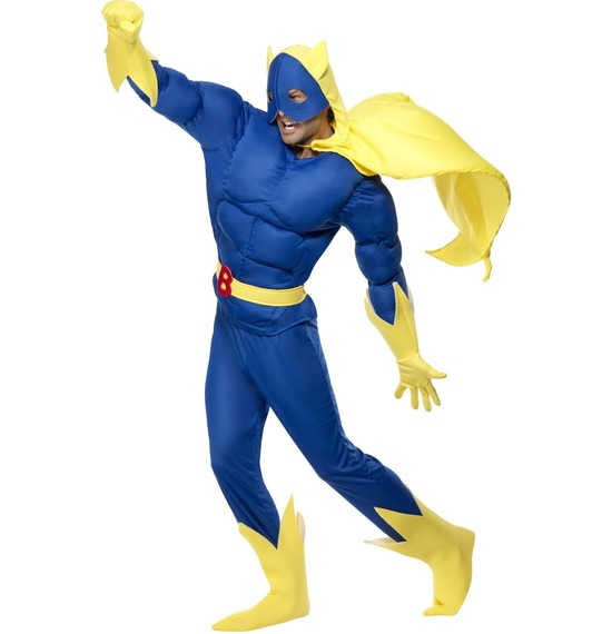 Bananaman Costume, Blue and Yellow