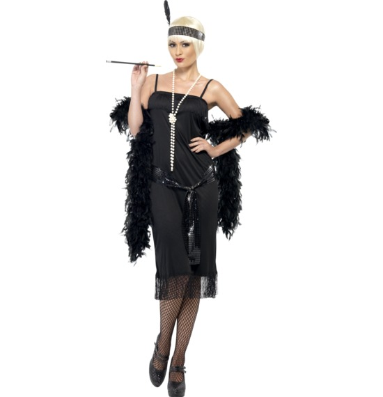 Flapper Costume Black Dress