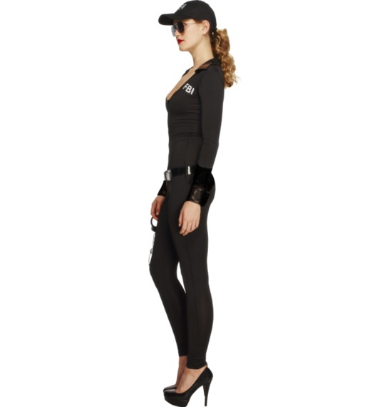 Fever FBI Flirt Costume, Black