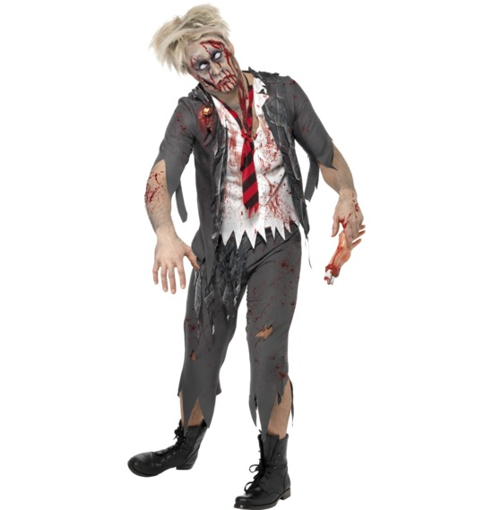 High School Horror Zombie Schoolboy Costume by Smiffys