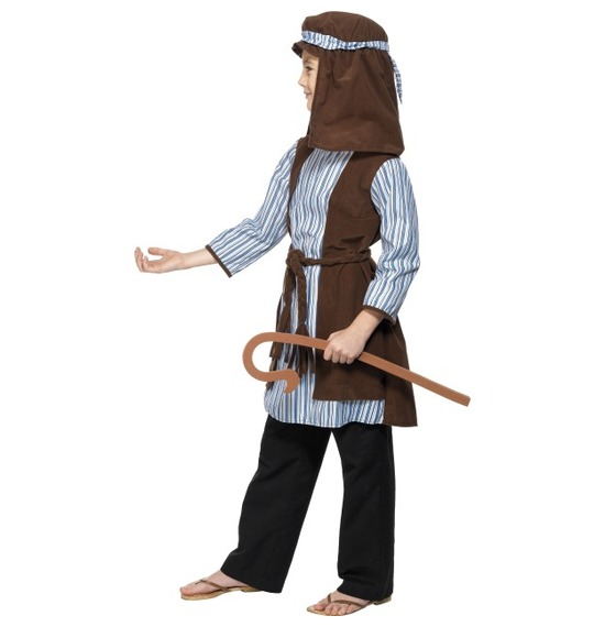 Shepherd Costume, Blue & Brown