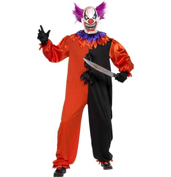 Cirque Sinister Scary Bo Bo the Clown Costume by Smiffys