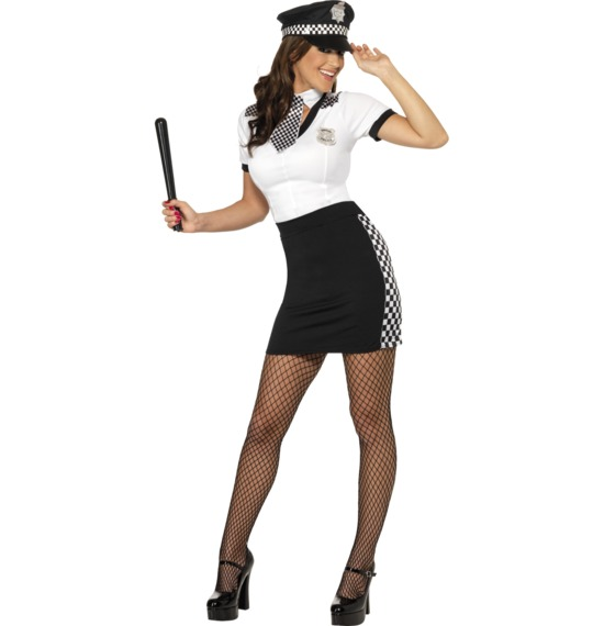 Cop Costume, Black & White