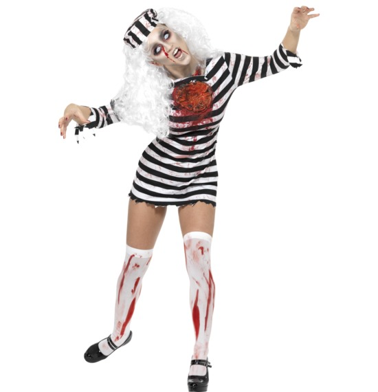 Zombie Convict Costume, Dress
