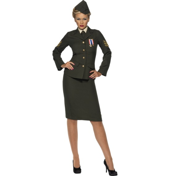 Wartime Officer Costume, Green