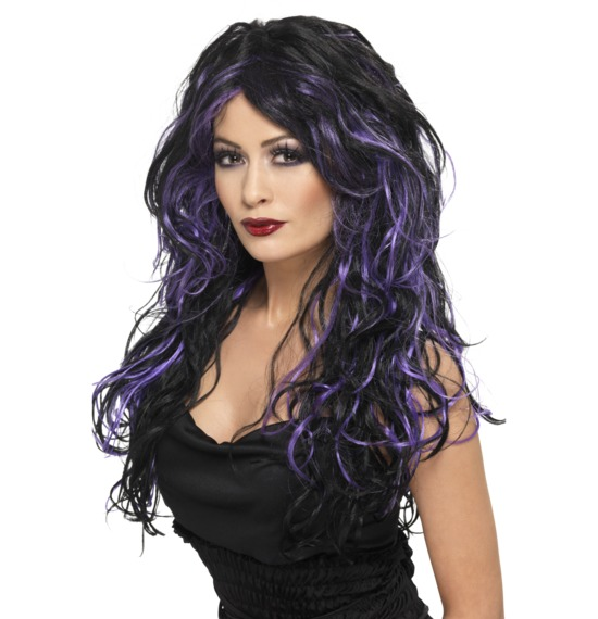 Gothic Bride Purple Wig