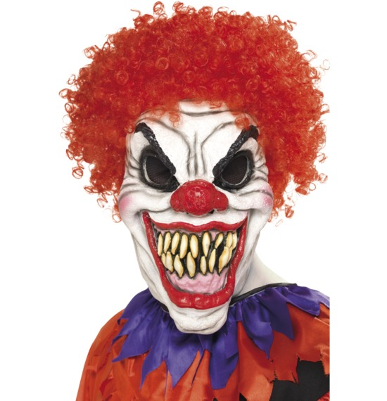 Scary Clown Mask with Hair