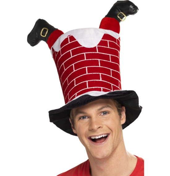 Santa Stuck in Chimney Hat