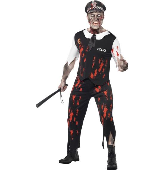 Zombie Policeman Costume By Smiffys