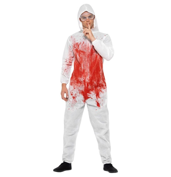 Bloody Forensic Overall Costume by Smiffys