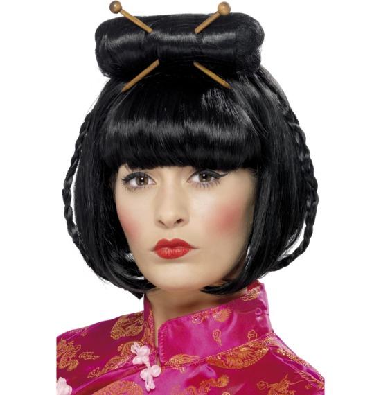 Oriental Lady Wig Black