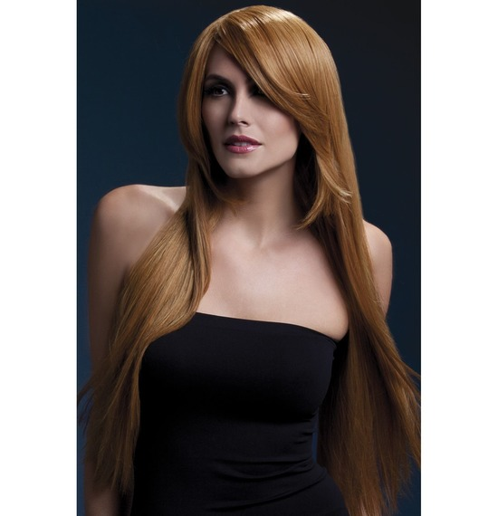 Fever Amber Wig, Long, Straight With Long Fringe, Auburn