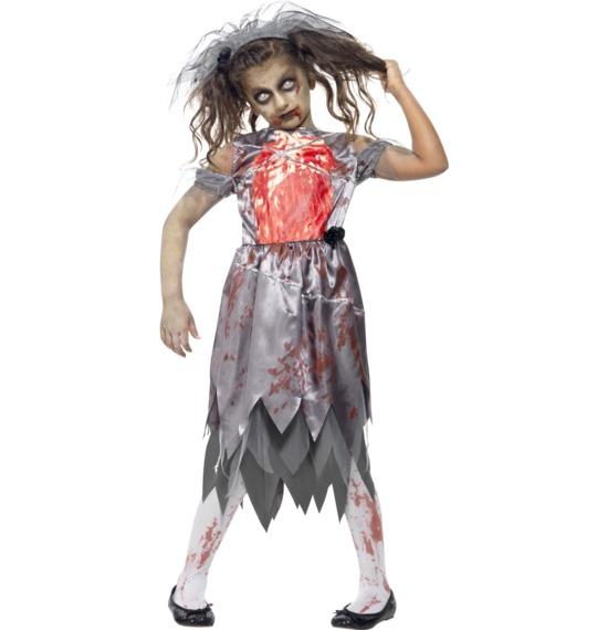 Zombie Bride Costume, Grey