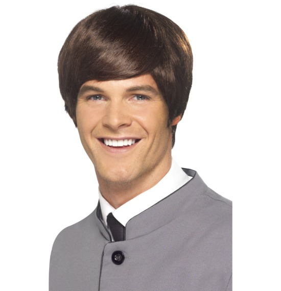 60's Male Mod Brown Wig