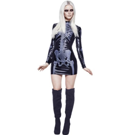 Fever Miss Whiplash Skeleton by Smiffys