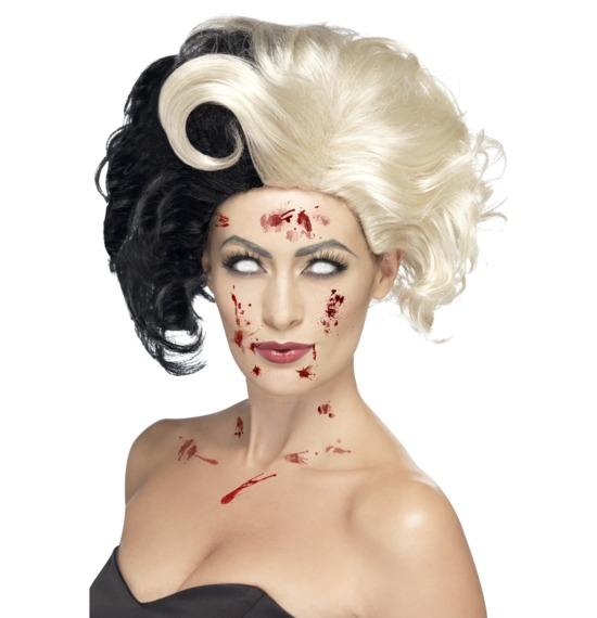 Evil Madame Black and Blonde Wig