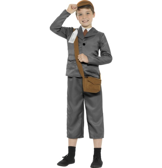 World War II Evacuee Boy Costume.