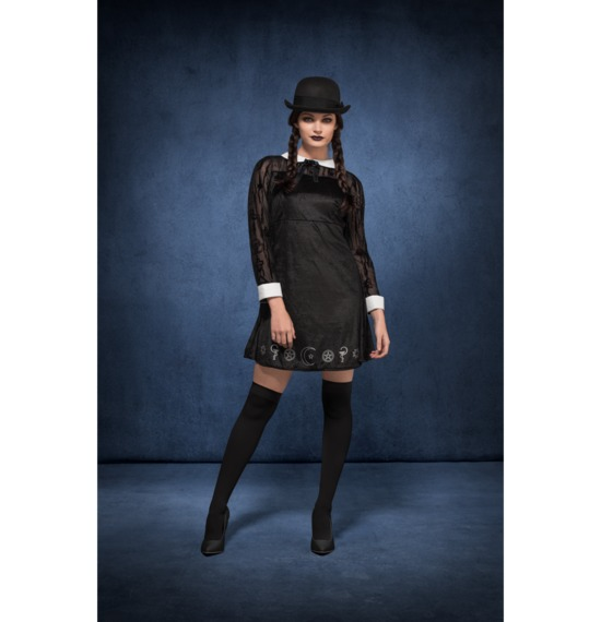 Fever Deluxe Gothic School Girl Costume by Smiffys