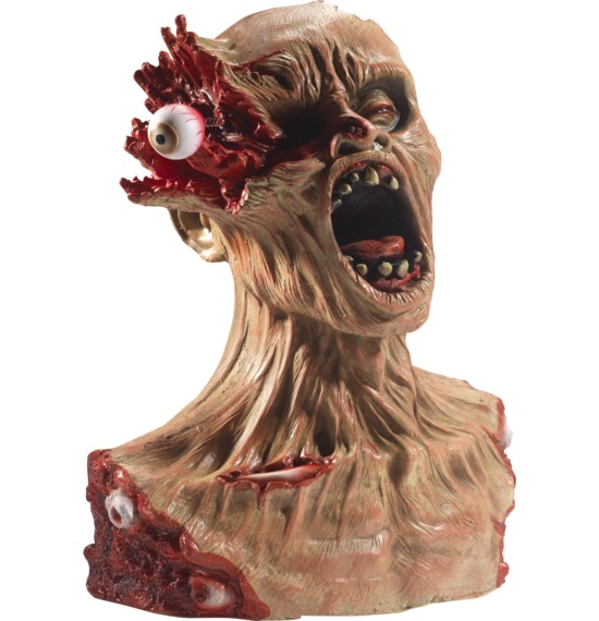 Latex Exploding Eye Zombie Bust Prop