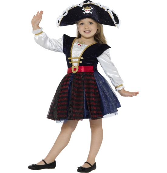 Deluxe Glitter Pirate Girl Costume by Smiffys