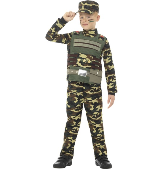 Camouflage Military Boy Costume by Smiffys