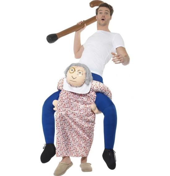 Piggy Back Grandma Costume