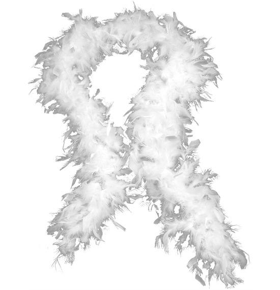 Luxury Feather Boa White