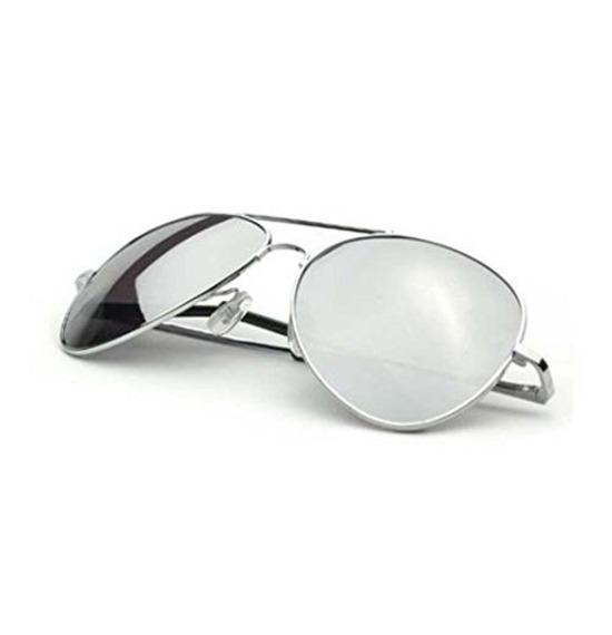 Silver Aviator Glasses