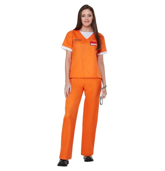 Orange is The New Black Prison Uniform Costume by Smiffys
