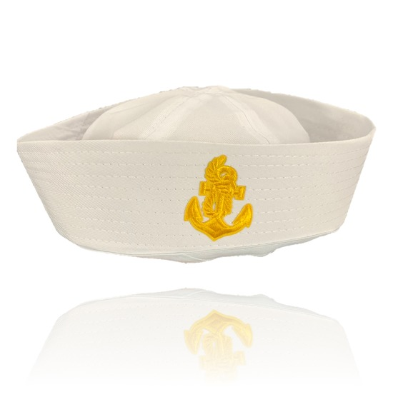 Gold Anchor Sailor Hat