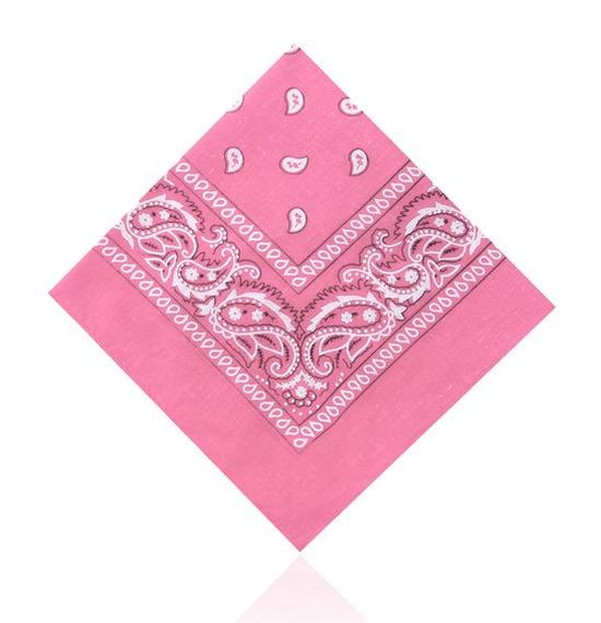 Baby Pink Paisley Bandana