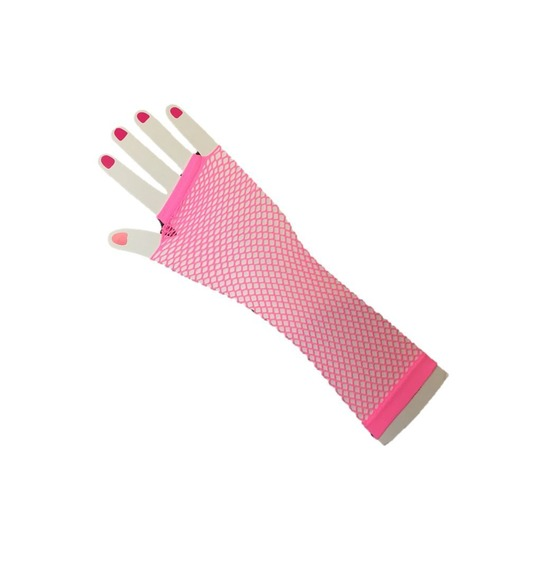 80's Baby Pink Gloves