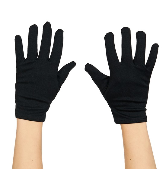 Black Short Gloves