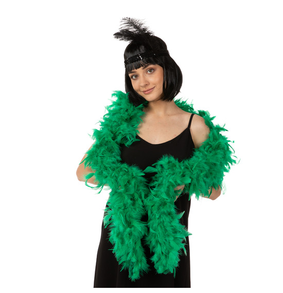 Luxury Feather Boa Green