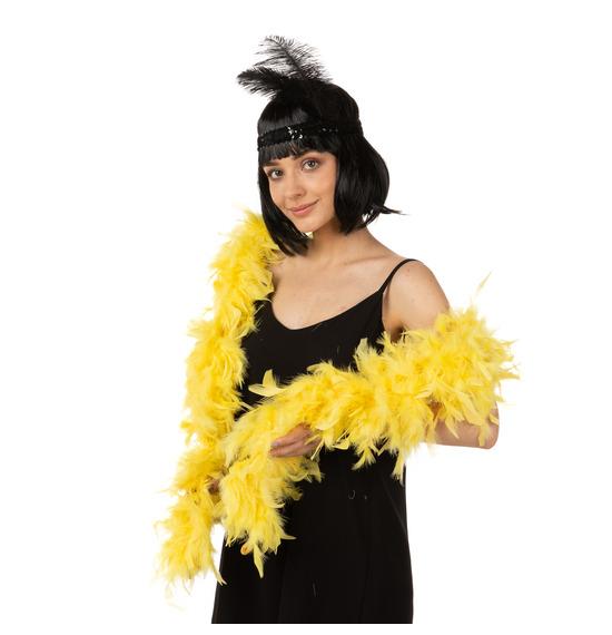 Luxury Feather Boa Yellow