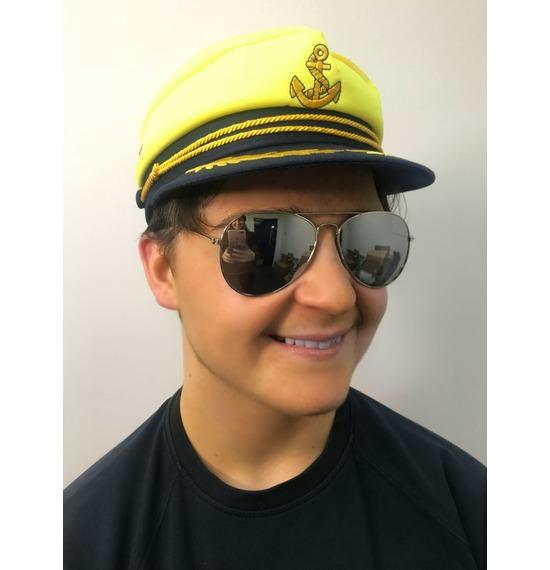 Yellow Anchor Sailor Hat