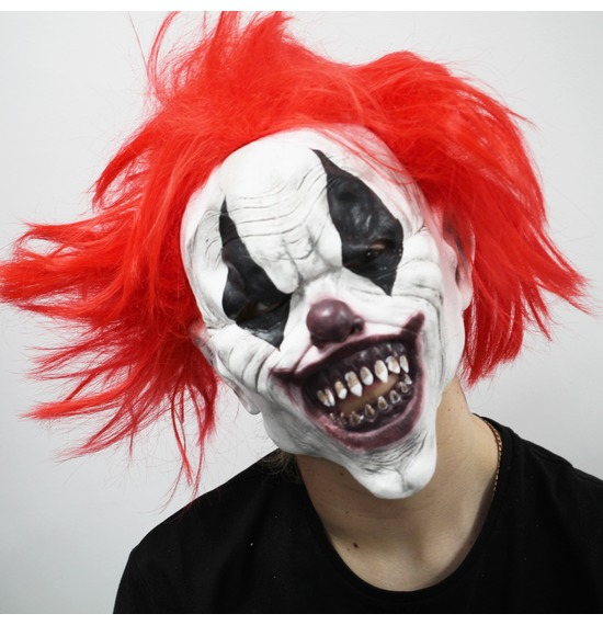 Evil Clown Latex Mask