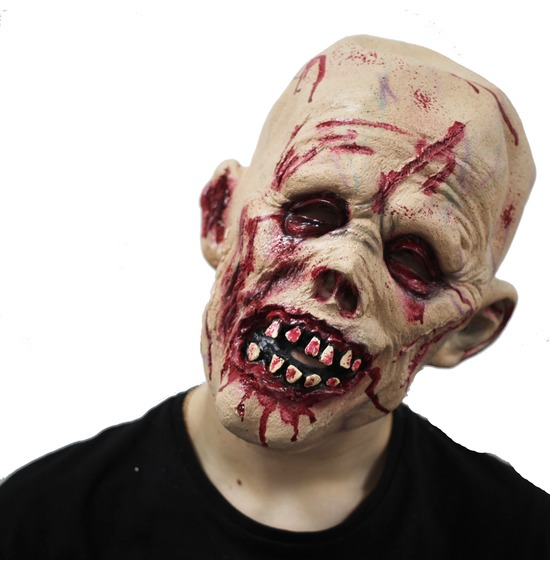 Bloody Zombie Latex Mask
