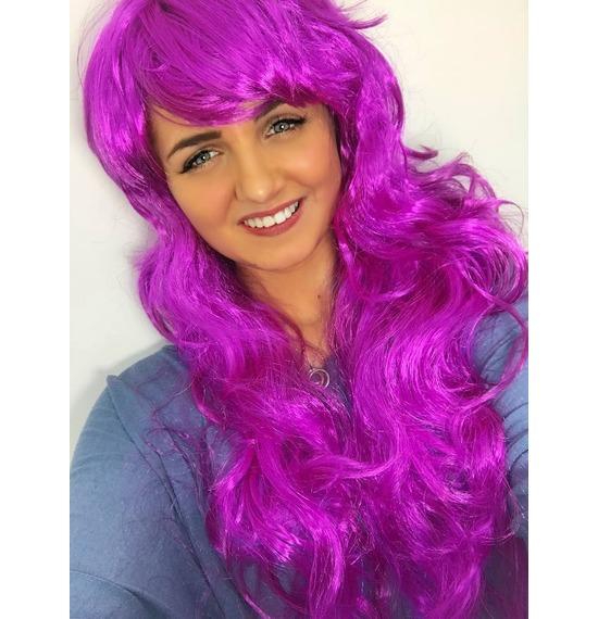 Purple Wavy Wig